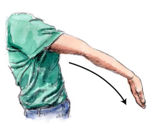 テニス肘を治すストレッチ
